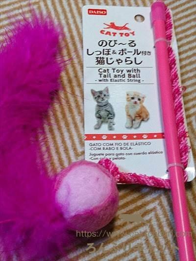 猫のおもちゃ(100均のダイソー)